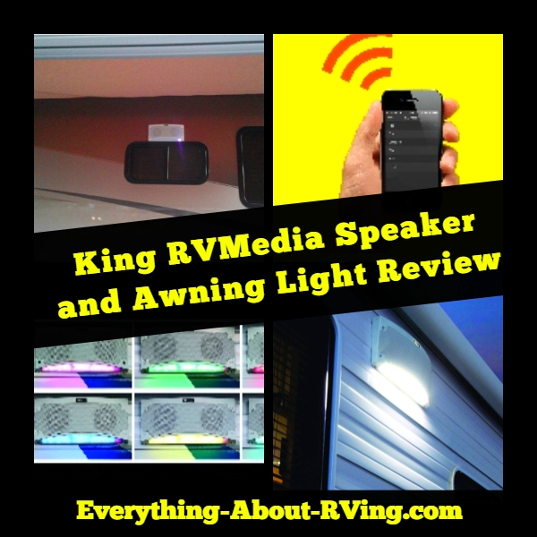 King RVMedia Speaker and Awning Light Review