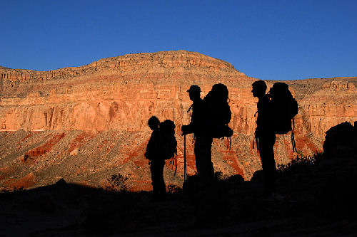 Hiking The Havasupai Trail In Arizona Photograph By Robert Body