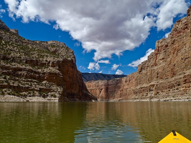 Boating at Bighorn Canyon