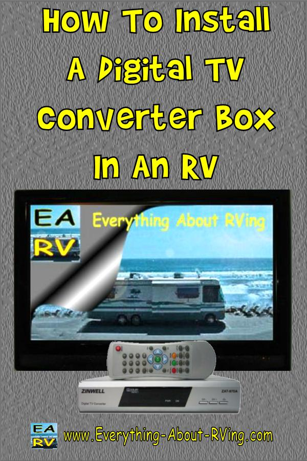 How To Install A Digital TV Converter Box In An RV