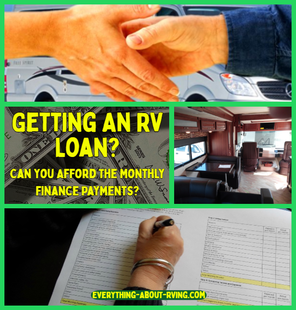 Getting An RV Loan?  Can You Afford The Monthly Finance Payments?