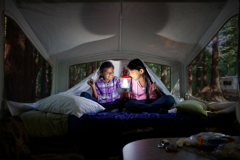 Glamping While Pop-Up Camping