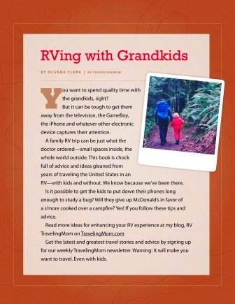 Free eBook Offers Tips on RVing With Grandkids