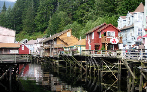 Ketchikan Creek Street Photo By Eugeniy Kalinin
