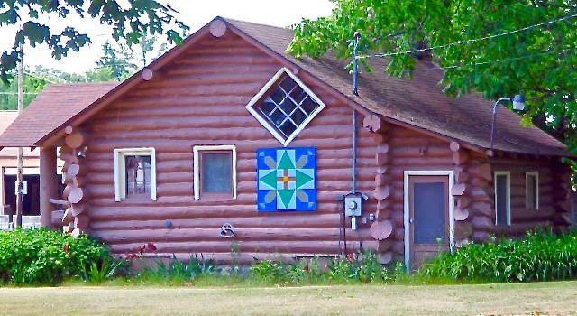 Log Cabin on Alcona County Quilt Trail