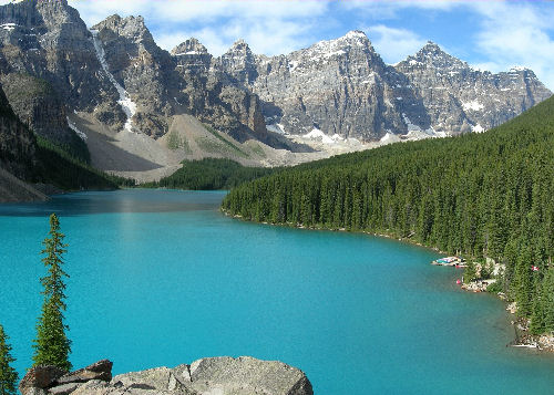 Moraine Lake, an attraction of the Banff National Park in the Canadian province of Alberta Photograph By Tobias Alt