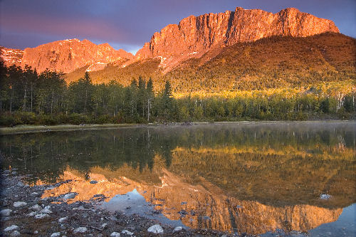 Mount-Yamnuska, Officially known as Mount John Laurie, in Kananaskis Country west of Calgary Photograph by Chuck Szmurlo