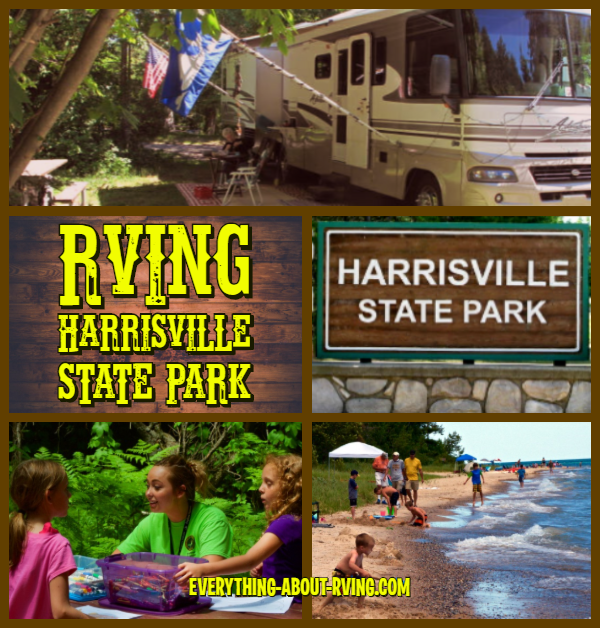 RVing Harrisville State Park In Michigan