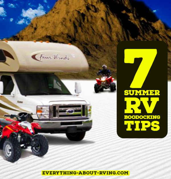 7 Summer RV Boondocking Tips
