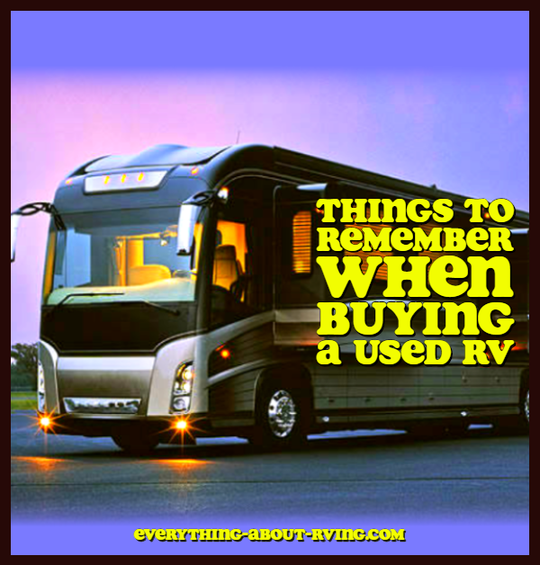 Things to Remember When Buying a Used RV over New Models