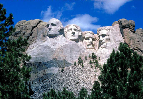 Mount Rushmore camping in the USA