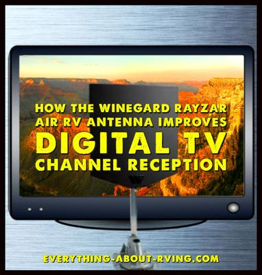 How the Winegard Rayzar Air RV Antenna Improves the Digital TV Channel Reception