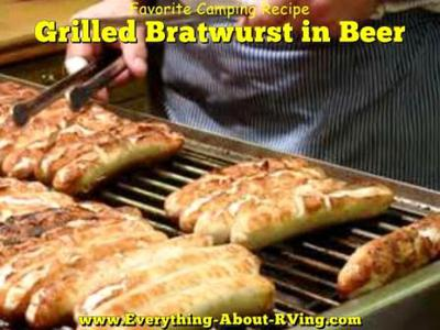 Grilled Bratwurst in Beer