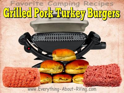 Grilled Pork Turkey Burgers
