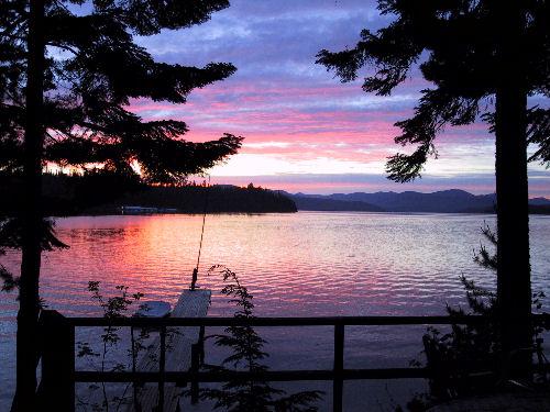Sunset Over  Cavanaugh Bay Idaho
