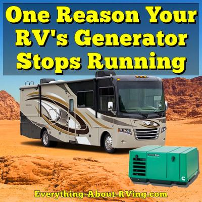 One Reason Your RV's Generator Stops Running