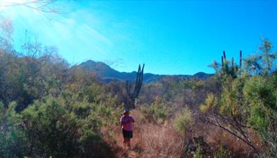 Lisa Goy Hiking at Rancho Verde