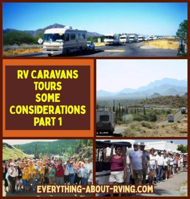 RV Caravans Tours-Some Considerations - Part 1