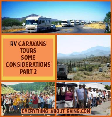 RV Caravans Tours-Some Considerations - Part 2