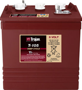 Trojan T105 Deep Cycle battery