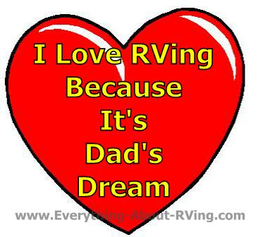 RVing is Dad's Dream