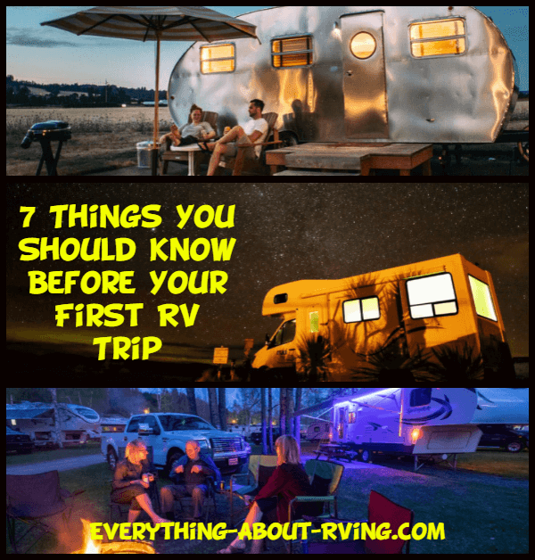 7 Things You Should Know Before Your First RV Trip