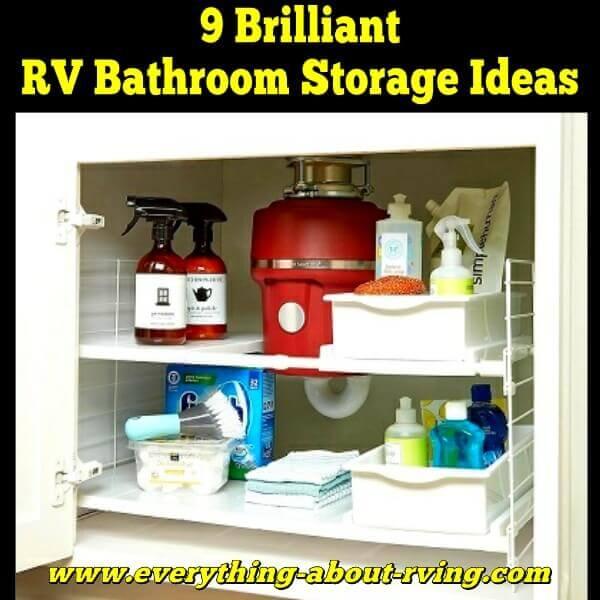 9 Brilliant RV Bathroom Storage Ideas