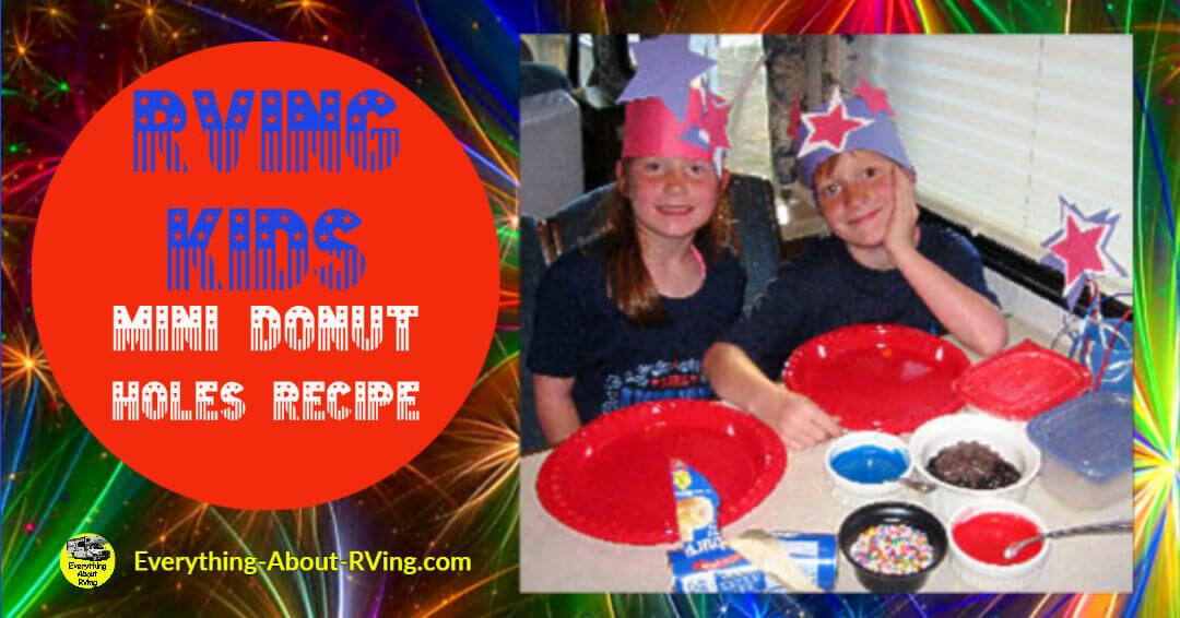 RVing Kids Mini Donut Holes Recipe