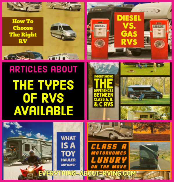 The Types Of RVs Available