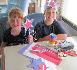 RVing Kids Independence Day Hat and Star Wand Project