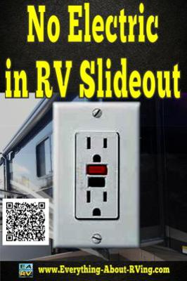 lights and electric outlets are not working in my rv s slide out room the lights and electric outlets are not working in my rv s slide out room